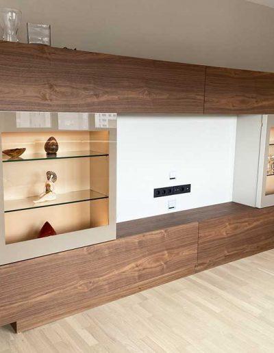 Mueble de salón con hueco para la televisión